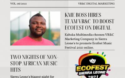 VR&C Marketing hired as digital agency for 2021 Ecofest Music Festival in Sierra Leone